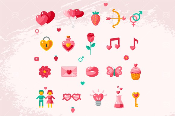 Valentine icons in Icons