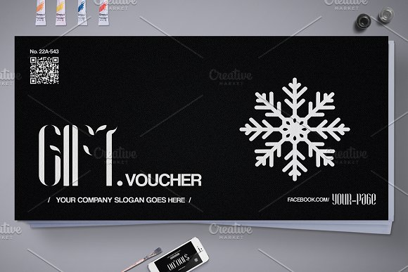 Christmas Gift Voucher 10 Styles