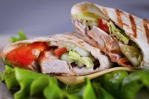 Homemade chicken wrap