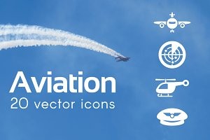 AVIATION - vector icons