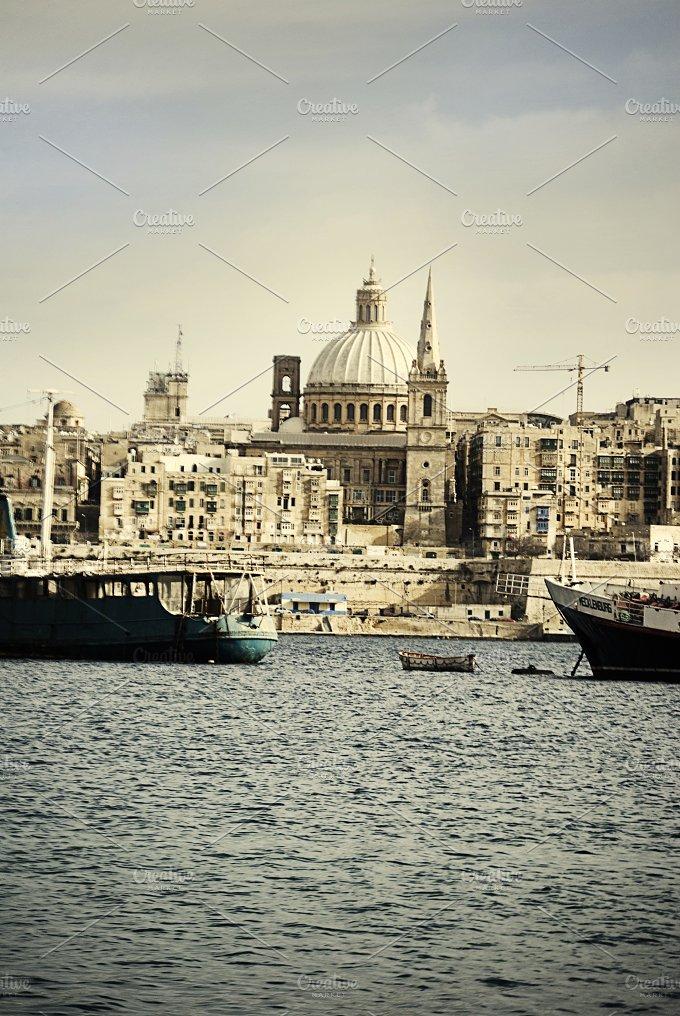 Malta. La Valetta, views Mediterrane - Architecture