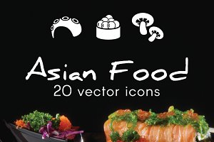 ASIAN FOOD - vector icons