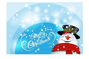 Snowman, christmas card