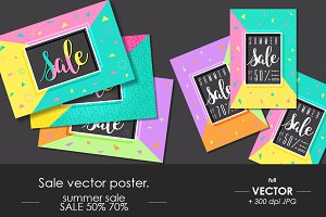 Sale vector posters