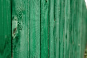 Dark lime vintage wooden boards. Backgrounds textures fence painted. Front view. Attract a beautiful vintage background.