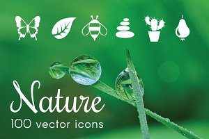 NATURE - vector icons