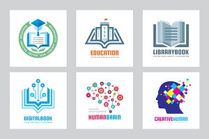 Education - Vector Logo Set