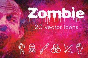 ZOMBIE - vector line icon
