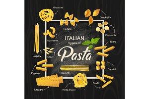 Spaghetti or italian macaroni, pasta meal