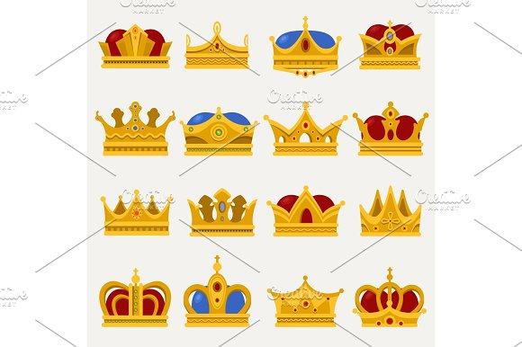 Set Of Royal King Or Prince Crown Pope Tiara