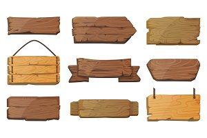 Blank or empty west signboards or wood plank