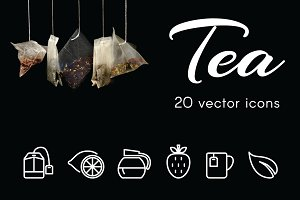 TEA  - vector line icons