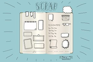 Scrapbook and journal set