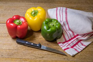 Peppers of different colors