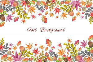 Fall Background Watercolour