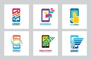 Mobilephone Smartphone Logo Set