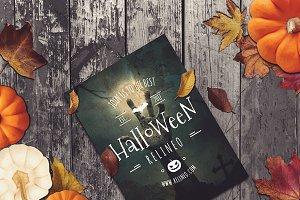Halloween Poster Mock-up #7
