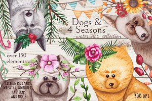 Dogs & 4 Seasons