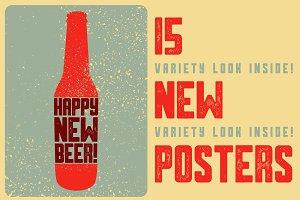 Christmas Beer vintage posters.