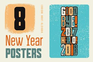 Typographic Christmas posters.