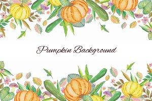 Pumpkin Watercolor Background