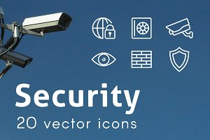 SECURITY - vector line icons