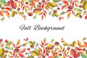 Fall Background Watercolor