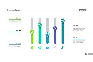 Five Columns Chart Slide Template