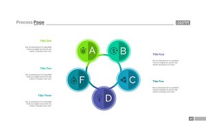 Five Connected Circles Slide Template