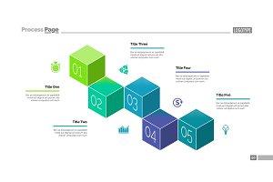 Five Cubes Process Chart Slide Template