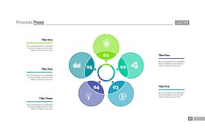 Five Petals Process Chart Slide Template