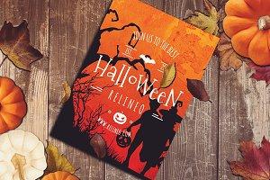 Halloween Poster Mock-up #8