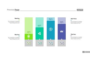 Four Columns Bar Chart Slide Template