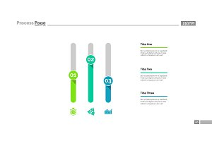 Three Columns Chart Slide Template