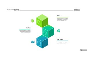 Three Cubes Process Chart Slide Template