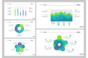 Five Data Analysis Slide Template Set