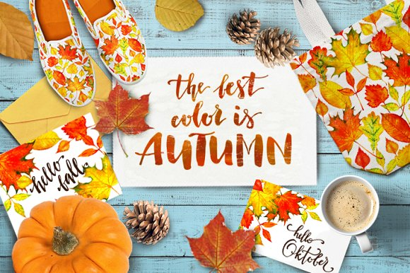 Autumn leaves-Graphicriver中文最全的素材分享平台