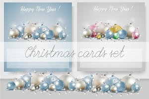 Christmas and New Year postcard