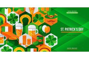 Saint Patricks Day creative flyer