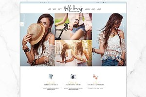 Hello Beauty Wordpress Genesis Theme