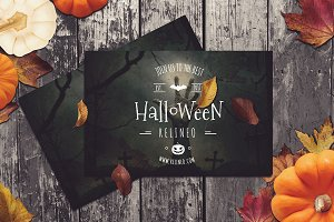 Halloween Posters Mock-up #10