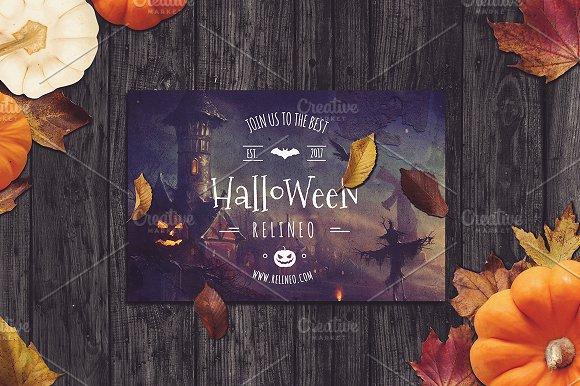 Halloween Poster Mock-up #9