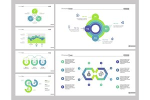 Six Business Target Slide Template Set