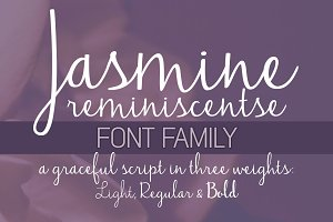 Jasmine Reminiscentse Font Family