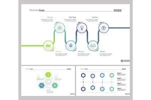 Three Logistics Slide Templates Set