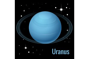 Uranus planet vector illustration