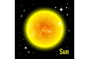 The Sun vector illustration