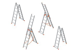 Isometric ladder.
