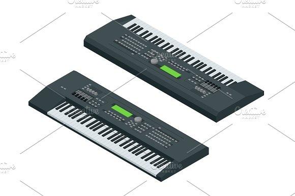Isometric electronic synthesizer