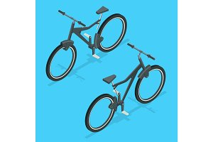 Isometric modern sport bicycle